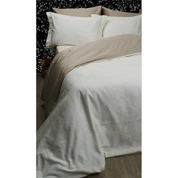 Комплект постельного белья  Deco Bianca сатин жаккард jk16-02 krem кремовый евро