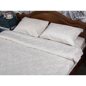 Комплект постельного белья  Deco Bianca сатин жаккард jk17-01 kurik beyaz евро