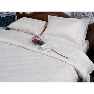 Комплект постельного белья  Deco Bianca сатин жаккард jk17-03 ecru евро