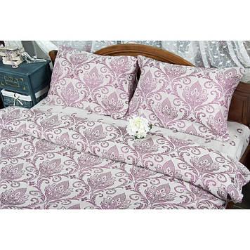 Комплект постельного белья  Deco Bianca сатин жаккард jk17-05 bordo евро