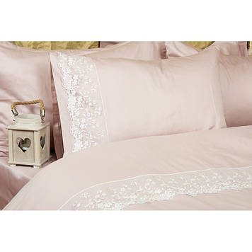 Комплект постельного белья  Amour Paris - Via Rose пудра евро
