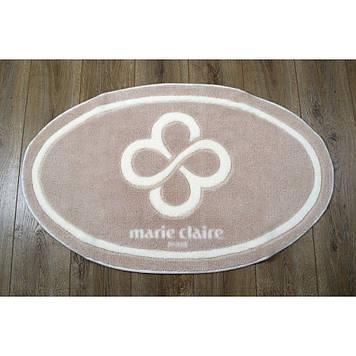 Коврик в ванную комнату Marie Claire - Sally бежевый 66*107 овал