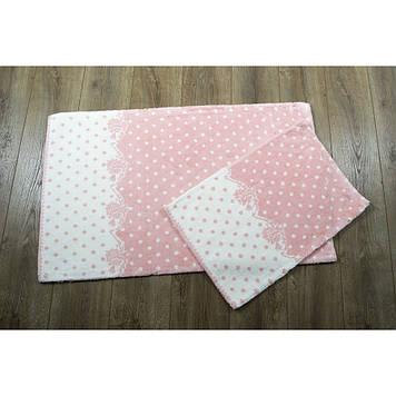 Набор ковриков в ванную комнату Irya 60x100 см и 45x60 см персиковый
