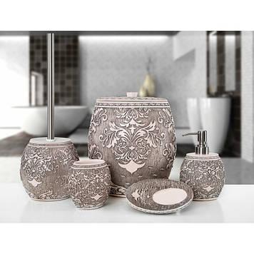 Комплект в ванную Irya - Adore pembe (5 предметов)
