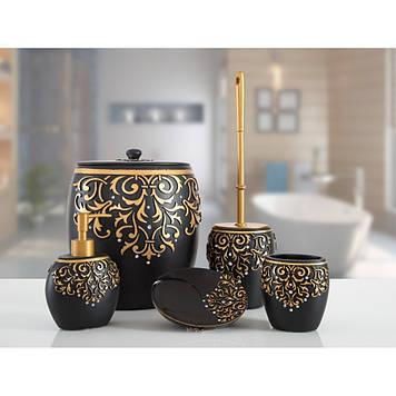 Комплект в ванную Irya - Flossy siyah (5 предметов)