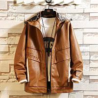 Весна і осінь Haining шкіряна чоловіча корейська тонка красива модна молодіжна мотоциклетна куртка шкіряна куртка