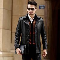 Осінньо-зимовий новий шкіряний чоловічий повсякденний діловий костюм з двох частин, новинка 2020 року, оксамитовий костюм з коміром і шкіряною курткою,