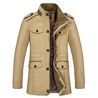Весна і осінь, чоловіча повсякденна чоловіча куртка великих розмірів, бавовняна вітрівка середньої довжини, чоловіча куртка великих розмірів для середнього