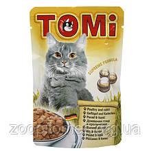 Консерва для кошек Tomi (Томи) poultry rabbit пауч (птица, кролик), 100 г