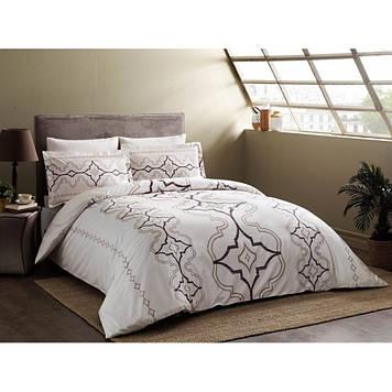 Набор постельного белья TAC сатин Delux - Ginza murdum фиолетовый евро