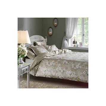 Набор постельного белья TAC сатин Delux - Shadow yesil зеленый евро