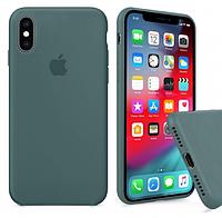 Чехол Silicone Case Full для iPhone XS Max Pine Green