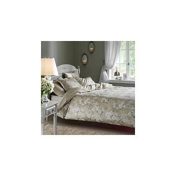 Набор постельного белья TAC сатин Delux - Shadow yesil v51 зеленый семейное