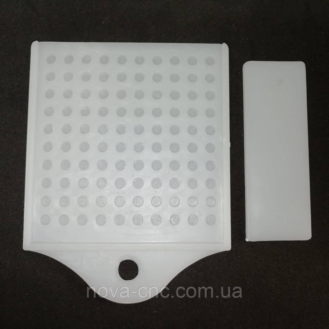Органайзер для подсчета страз диаметром 4 и 5 мм пластик белый на 100 штук