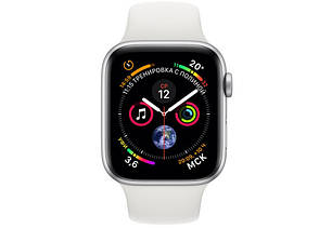 Смарт-часы Apple Watch Series 4 40mm Silver Aluminum White Sport Band Витрина, фото 2