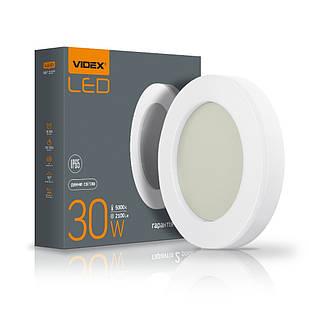 LED світильник ART IP65 круглий VIDEX 30W 5000K 25803