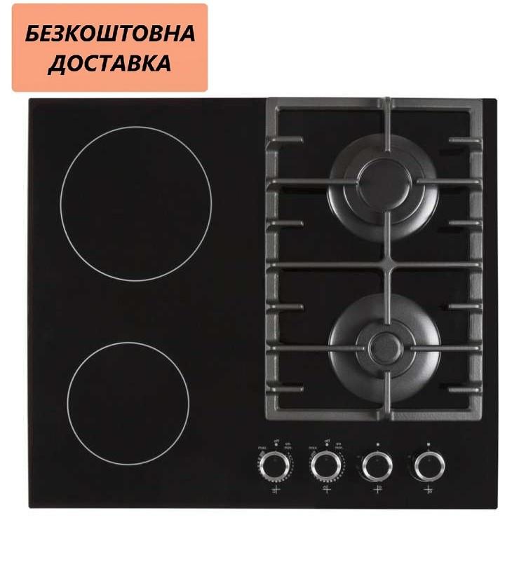 Варочная поверхность Ventolux HSF622-D3G CS (BK) Комбинированная Черная