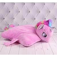 Мягкая игрушка подушка Единорог, детская подушка 40 см.