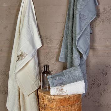 Набор полотенец Karaca Home - Fronda Offwhite-Gri 2020-2 2020-2 50*90+85*150