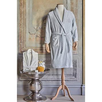 Набор халаты с полотенцем Karaca Home - Eldora Offwhite-Gri 2020-2