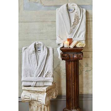 Набор халаты с полотенцем Karaca Home - Eldora Offwhite-Bej 2020-2
