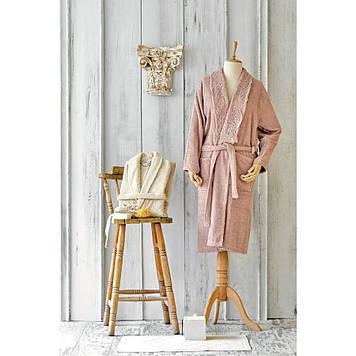 Набор халаты с полотенцем Karaca Home - Valeria Rose-Gold 2020-2