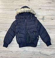 Тепла дута куртка на синтепоні. Капюшон і хутро знімний ( Підкладка - фліс). 4 - 14 років.