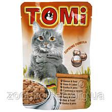 Консерва для кошек Tomi (Томи) goose liver пауч (гусь, печень), 100 г