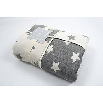 Плед микроплюш Barine - Star Patchwork throw black 130*170