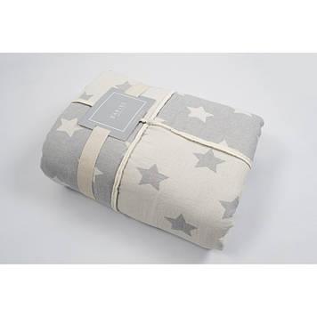 Плед микроплюш Barine - Star Patchwork throw grey 130*170