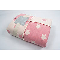 Плед микроплюш Barine - Star Patchwork throw pink 130*170