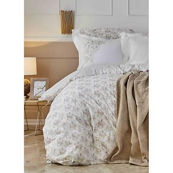 Набор  постельного белья  с пледом Karaca Home - Brave gold 2020-1 золотой евро