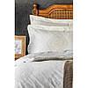 Набор  постельного белья  с пледом Karaca Home - Desire bej 2020-1 бежевый евро, фото 2