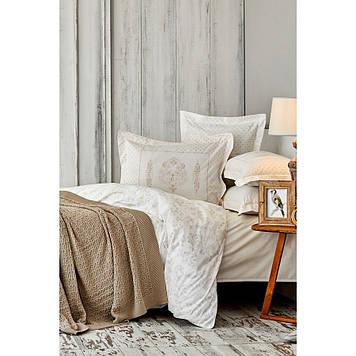 Набор  постельного белья  с пледом Karaca Home - Eldora gold 2020-1 золотой евро