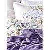 Набор  постельного белья  с пледом Karaca Home - Elsira lila 2020-1 лиловый евро, фото 2