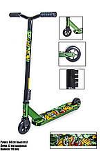 Трюковий самокат Scale Sports Leone 110 mm Зелений