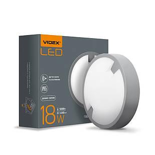 LED світильник IP65 круглий VIDEX 18W 5000K сенсорний 25807