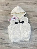 Хутряна жилетка ( всередині хутро-травичка). 1 - 3 років