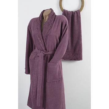 Набор халат с полотенцем Karaca Home - Drisela 2018-2 murdum