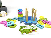 Монтессори. Геометрика. Деревянная развивающая игрушка-геометрика слоник