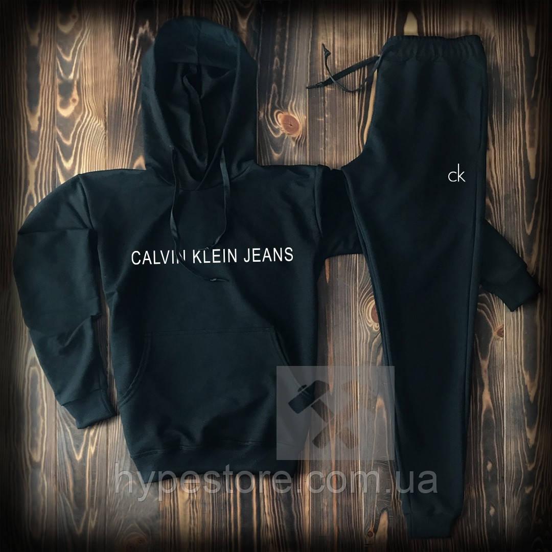 Мужской черный спортивный костюм в стиле Calvin Klein