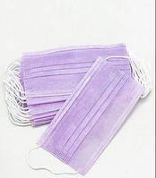 Маска фиолетовая медицинская Sangig трехслойная 50 шт
