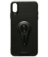 Чехол силиконовый Car Mount с магнитом+держатель для iPhone XS Max Black