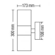 Светильник уличный настенный бра черный Horoz Electric MANOLYA-3, фото 3