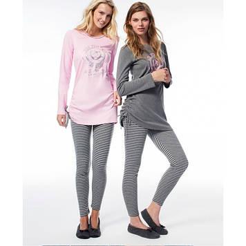 Домашняя одежда U.S. Polo Assn - Пижама женская (длин.рукав) 15515 розовая, XL