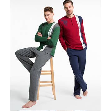 Домашняя одежда U.S. Polo Assn - Пижама мужская (длин.рукав) 17132 бордовая, S