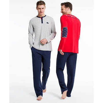 Домашняя одежда U.S. Polo Assn - Пижама мужская (длин.рукав) 17135 красная, S