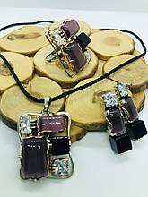Люксовая бижутерия из  нейзильбера с улекситом и ониксом Смальта