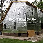 Фольгированный самоклеющийся 9мм вспененный каучук, рулон 1х20м, фото 5