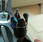 Органайзер подстаканник 5 в 1 автомобильный, держатель автомобильный, автомобильный подстаканник, фото 4